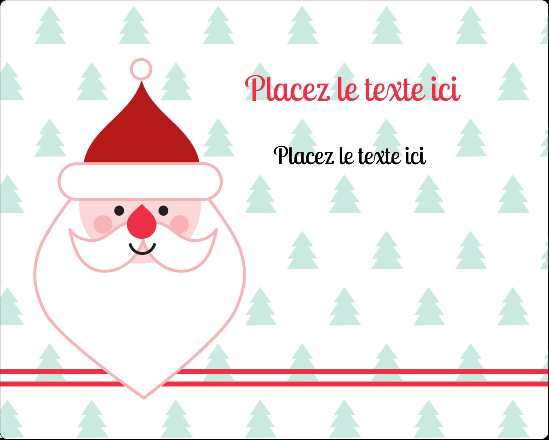 """2"""" Diameter Étiquettes rondes gaufrées - Père Noël"""