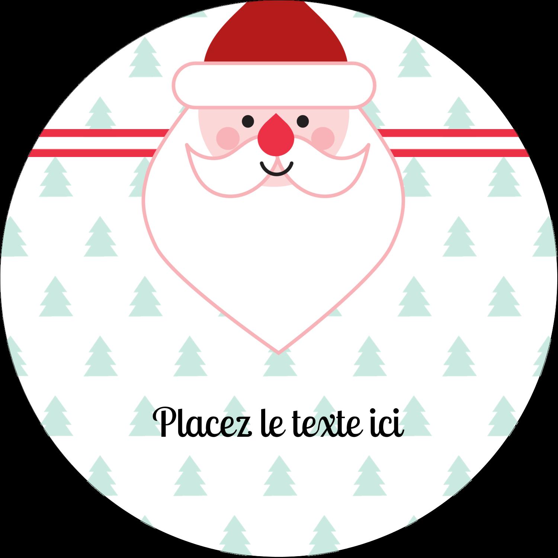 """3-7/16"""" x 15/16"""" Étiquettes de classement - Père Noël"""