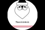 Père Noël Étiquettes arrondies - gabarit prédéfini. <br/>Utilisez notre logiciel Avery Design & Print Online pour personnaliser facilement la conception.