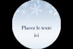 Les gabarits Flocon de neige élégant pour votre prochain projet des Fêtes Étiquettes rondes - gabarit prédéfini. <br/>Utilisez notre logiciel Avery Design & Print Online pour personnaliser facilement la conception.