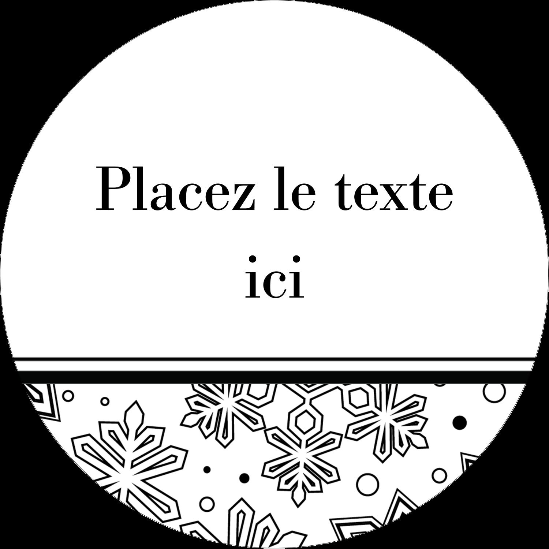 """2"""" Diameter Étiquettes rondes - Mandala de flocon de neige"""