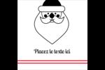 Père Noël Étiquettes enveloppantes - gabarit prédéfini. <br/>Utilisez notre logiciel Avery Design & Print Online pour personnaliser facilement la conception.