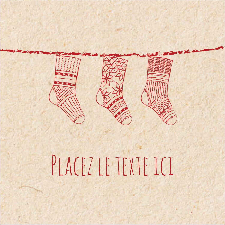"""1½"""" x 1½"""" Étiquettes carrées - Bas de Noël suspendus"""