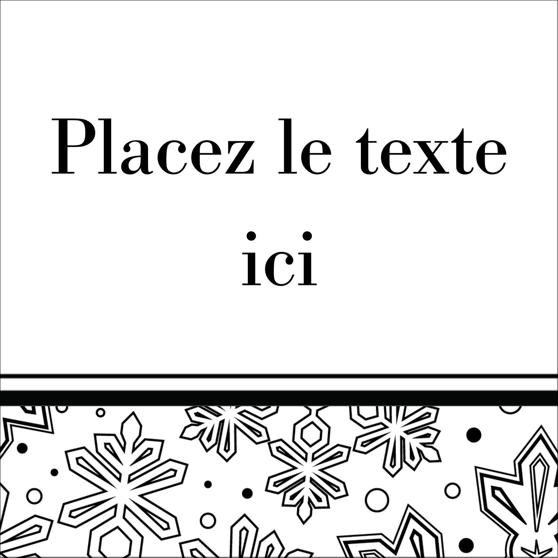 """1½"""" x 1½"""" Étiquettes carrées - Mandala de flocon de neige"""