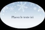 Les gabarits Flocon de neige élégant pour votre prochain projet des Fêtes Étiquettes carrées - gabarit prédéfini. <br/>Utilisez notre logiciel Avery Design & Print Online pour personnaliser facilement la conception.