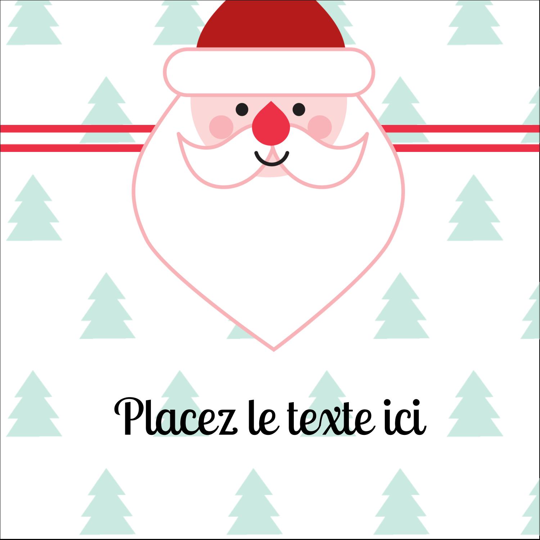 """2"""" x 2"""" Étiquettes carrées - Père Noël"""