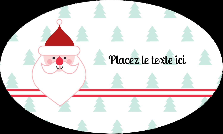 """1½"""" x 1½"""" Étiquettes carrées - Père Noël"""