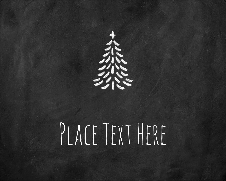 "3"" x 3¾"" Rectangular Label - Chalkboard Tree"