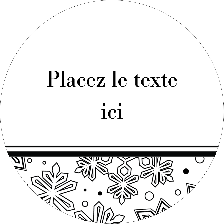 """2½"""" Diameter Étiquettes rondes - Mandala de flocon de neige"""