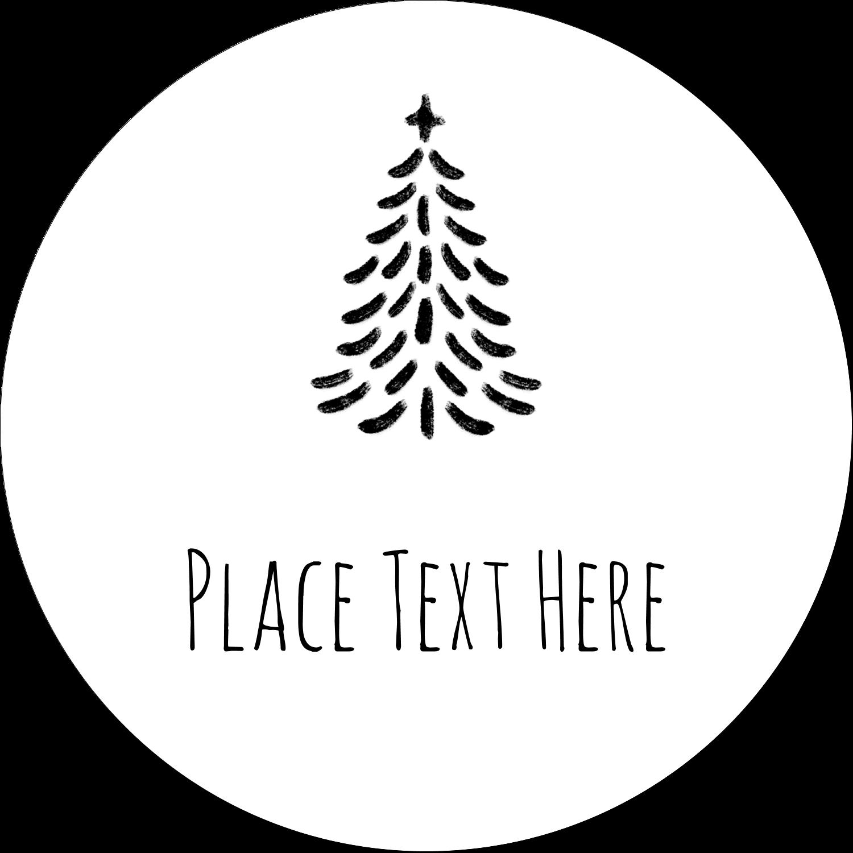 "2½"" Round Label - Chalkboard Tree"