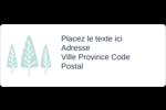 Les gabarits Neige tombant sur les arbres pour votre prochain projet des Fêtes Étiquettes D'Adresse - gabarit prédéfini. <br/>Utilisez notre logiciel Avery Design & Print Online pour personnaliser facilement la conception.