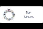 Couronne Étiquettes D'Adresse - gabarit prédéfini. <br/>Utilisez notre logiciel Avery Design & Print Online pour personnaliser facilement la conception.