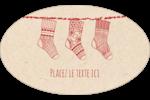 Bas de Noël suspendus Étiquettes carrées - gabarit prédéfini. <br/>Utilisez notre logiciel Avery Design & Print Online pour personnaliser facilement la conception.