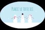 Petits bonshommes de neige Étiquettes ovales - gabarit prédéfini. <br/>Utilisez notre logiciel Avery Design & Print Online pour personnaliser facilement la conception.