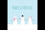 Petits bonshommes de neige Étiquettes carrées - gabarit prédéfini. <br/>Utilisez notre logiciel Avery Design & Print Online pour personnaliser facilement la conception.