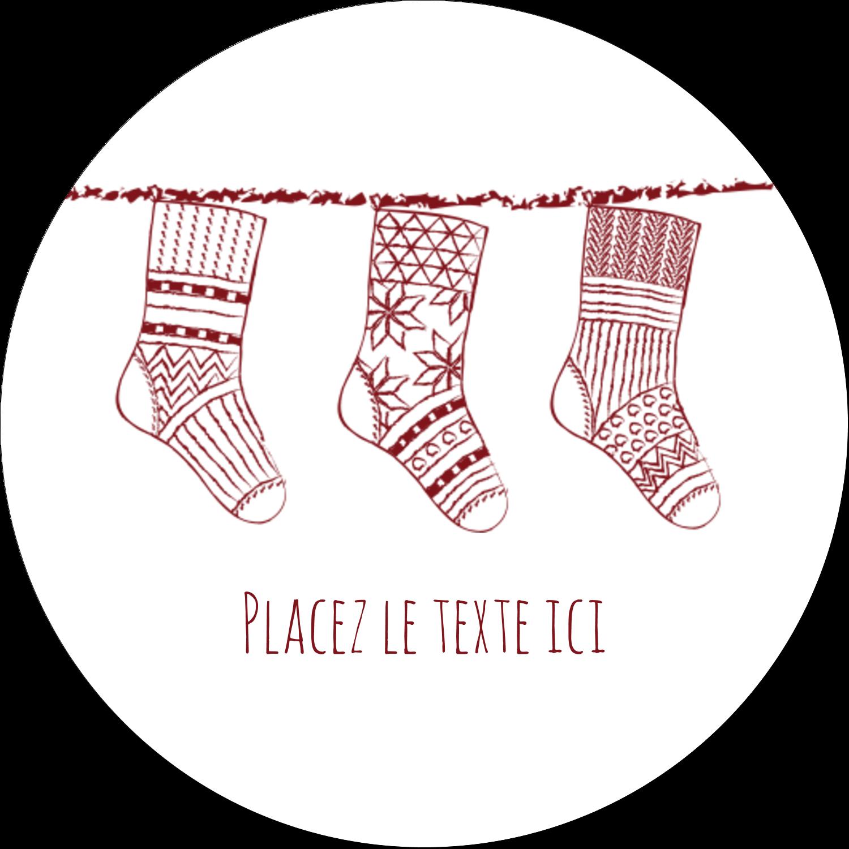 """3"""" x 2¼"""" Étiquettes arrondies - Bas de Noël suspendus"""