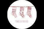 Bas de Noël suspendus Étiquettes arrondies - gabarit prédéfini. <br/>Utilisez notre logiciel Avery Design & Print Online pour personnaliser facilement la conception.