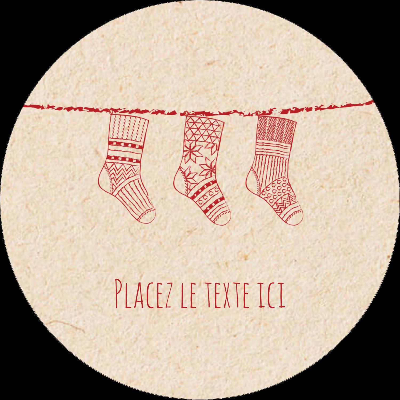 """3-7/16"""" x 15/16"""" Étiquettes de classement - Bas de Noël suspendus"""