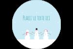 Petits bonshommes de neige Étiquettes rondes - gabarit prédéfini. <br/>Utilisez notre logiciel Avery Design & Print Online pour personnaliser facilement la conception.