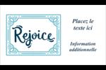 « Rejoice » écrit à la main Carte d'affaire - gabarit prédéfini. <br/>Utilisez notre logiciel Avery Design & Print Online pour personnaliser facilement la conception.