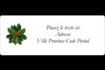 Bordure florale de Noël Étiquettes D'Adresse - gabarit prédéfini. <br/>Utilisez notre logiciel Avery Design & Print Online pour personnaliser facilement la conception.