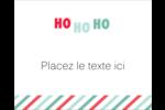 « Ho Ho Ho » Étiquettes rondes gaufrées - gabarit prédéfini. <br/>Utilisez notre logiciel Avery Design & Print Online pour personnaliser facilement la conception.