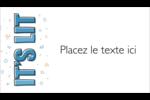 Hanoukka, la fête des Lumières Cartes Pour Le Bureau - gabarit prédéfini. <br/>Utilisez notre logiciel Avery Design & Print Online pour personnaliser facilement la conception.