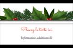 Bordure florale de Noël Carte d'affaire - gabarit prédéfini. <br/>Utilisez notre logiciel Avery Design & Print Online pour personnaliser facilement la conception.