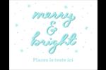 « Merry and Bright » écrit à la main Étiquettes rondes gaufrées - gabarit prédéfini. <br/>Utilisez notre logiciel Avery Design & Print Online pour personnaliser facilement la conception.