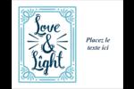 « Love and Light » écrit à la main Étiquettes rondes gaufrées - gabarit prédéfini. <br/>Utilisez notre logiciel Avery Design & Print Online pour personnaliser facilement la conception.