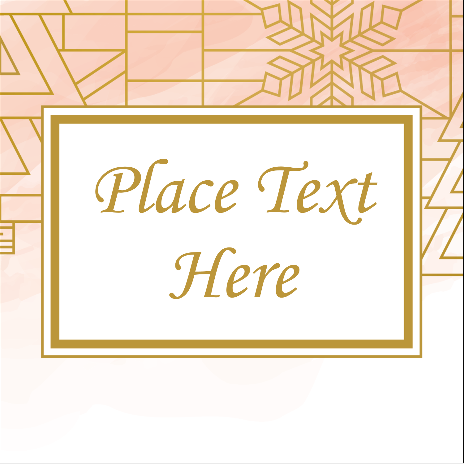 Bring unique holiday style to projects with pre-designed Geometric Winter templates.
