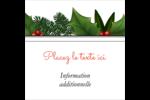 Bordure florale de Noël Étiquettes enveloppantes - gabarit prédéfini. <br/>Utilisez notre logiciel Avery Design & Print Online pour personnaliser facilement la conception.