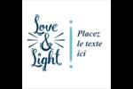 « Love and Light » écrit à la main Étiquettes enveloppantes - gabarit prédéfini. <br/>Utilisez notre logiciel Avery Design & Print Online pour personnaliser facilement la conception.