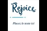 « Rejoice » écrit à la main Étiquettes enveloppantes - gabarit prédéfini. <br/>Utilisez notre logiciel Avery Design & Print Online pour personnaliser facilement la conception.