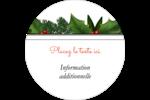 Bordure florale de Noël Étiquettes rondes - gabarit prédéfini. <br/>Utilisez notre logiciel Avery Design & Print Online pour personnaliser facilement la conception.