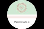 Sceau en blocs de couleur Étiquettes rondes - gabarit prédéfini. <br/>Utilisez notre logiciel Avery Design & Print Online pour personnaliser facilement la conception.