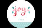 « Joy » écrit à la main Étiquettes rondes - gabarit prédéfini. <br/>Utilisez notre logiciel Avery Design & Print Online pour personnaliser facilement la conception.