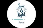« Love and Light » écrit à la main Étiquettes rondes - gabarit prédéfini. <br/>Utilisez notre logiciel Avery Design & Print Online pour personnaliser facilement la conception.