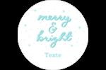 « Merry and Bright » écrit à la main Étiquettes rondes - gabarit prédéfini. <br/>Utilisez notre logiciel Avery Design & Print Online pour personnaliser facilement la conception.