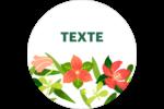 Pleine floraison  Étiquettes arrondies - gabarit prédéfini. <br/>Utilisez notre logiciel Avery Design & Print Online pour personnaliser facilement la conception.