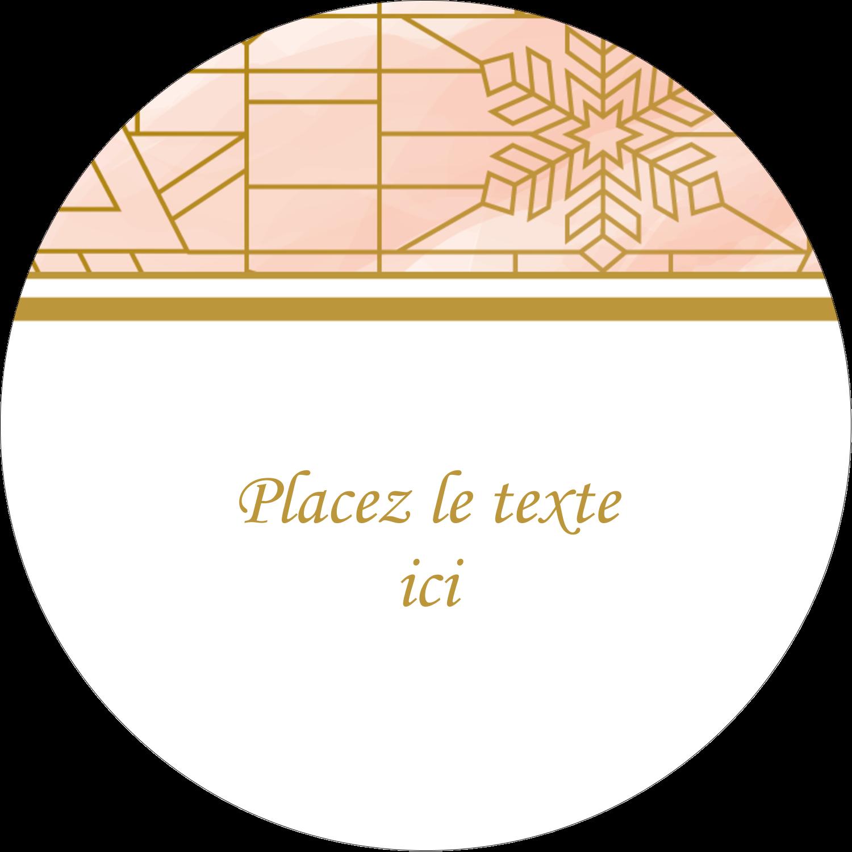 Hiver géométrique Étiquettes arrondies - gabarit prédéfini. <br/>Utilisez notre logiciel Avery Design & Print Online pour personnaliser facilement la conception.