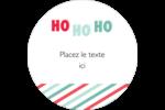 « Ho Ho Ho » Étiquettes arrondies - gabarit prédéfini. <br/>Utilisez notre logiciel Avery Design & Print Online pour personnaliser facilement la conception.