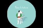 Joyeuses bêtes Étiquettes arrondies - gabarit prédéfini. <br/>Utilisez notre logiciel Avery Design & Print Online pour personnaliser facilement la conception.