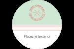 Sceau en blocs de couleur Étiquettes arrondies - gabarit prédéfini. <br/>Utilisez notre logiciel Avery Design & Print Online pour personnaliser facilement la conception.