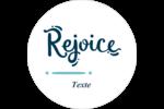 « Rejoice » écrit à la main Étiquettes de classement - gabarit prédéfini. <br/>Utilisez notre logiciel Avery Design & Print Online pour personnaliser facilement la conception.