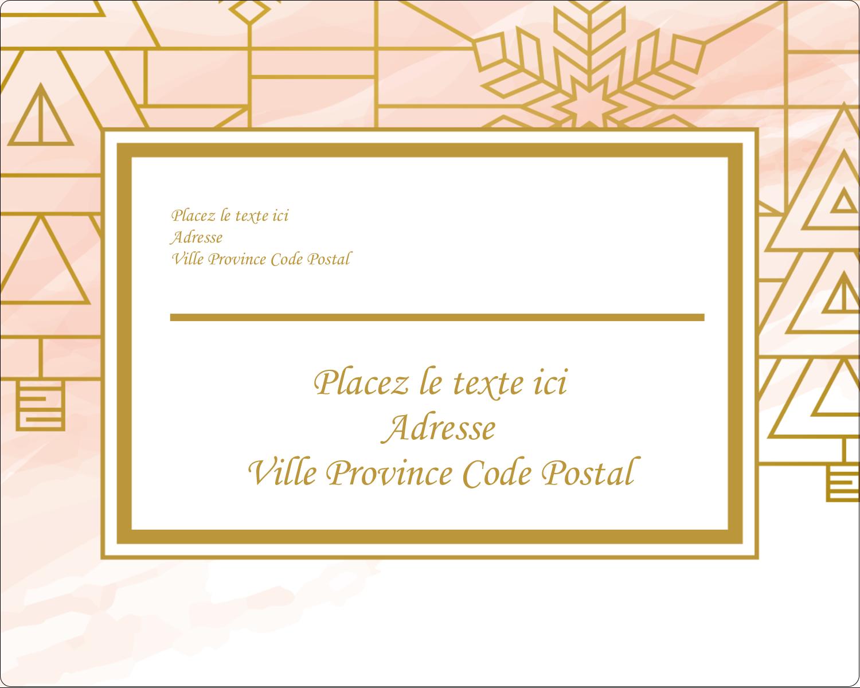 Hiver géométrique Étiquettes rondes gaufrées - gabarit prédéfini. <br/>Utilisez notre logiciel Avery Design & Print Online pour personnaliser facilement la conception.