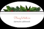 Bordure florale de Noël Étiquettes carrées - gabarit prédéfini. <br/>Utilisez notre logiciel Avery Design & Print Online pour personnaliser facilement la conception.