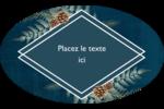 Couronne élégante Étiquettes carrées - gabarit prédéfini. <br/>Utilisez notre logiciel Avery Design & Print Online pour personnaliser facilement la conception.