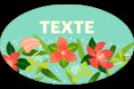 Pleine floraison  Étiquettes carrées - gabarit prédéfini. <br/>Utilisez notre logiciel Avery Design & Print Online pour personnaliser facilement la conception.