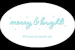 « Merry and Bright » écrit à la main Étiquettes carrées - gabarit prédéfini. <br/>Utilisez notre logiciel Avery Design & Print Online pour personnaliser facilement la conception.